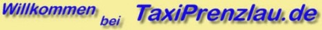 Taxi Prenzlau Werbung